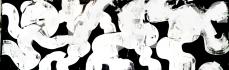 Weißschwarz 1, 50 x 150 cm