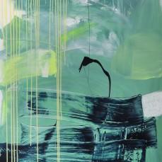 Blau und Grün, 110 x 180 cm
