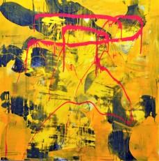 Der Faktor Gelb 2, 50 x 150 cm