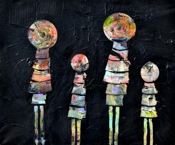 La familia, 120 x 100 cm