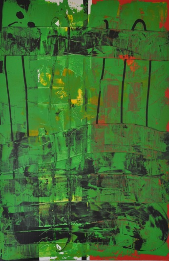 Durchbrochenes Grün 1, 100 x 150 cm
