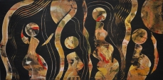 Gruppenbild 1, 160 x 70 cm