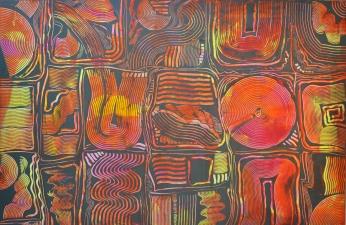 Formsammlung rot, 100 x150 cm