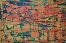 Synapsen in Rot, 150 x 100 cm