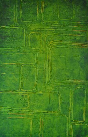 Linienführung in Gelb 1, 100 x 150 cm