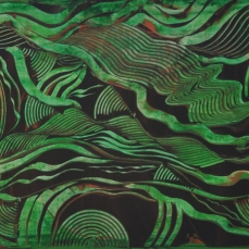 Regenwald 1, 160 x 50 cm