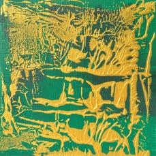 Grün Gold 9, 30 x 30 cm
