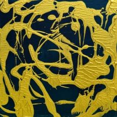 Grün Gold 8, 30 x 30 cm