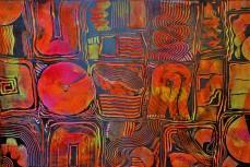 Formensammlung Rot, 100 x 150 cm