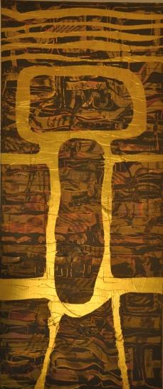 Goldene Form, 50 x 150 cm