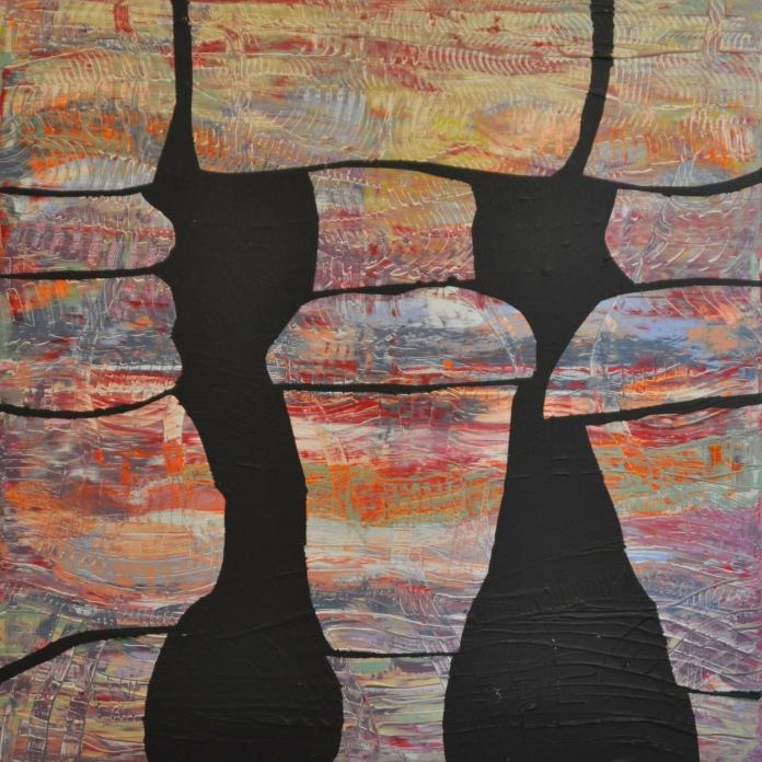 Gruppenbild archetypischer Frauen, 60 x 60 cm
