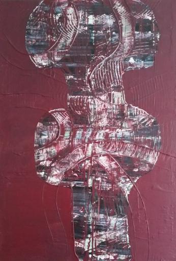 Kelchförmiger Frauenkörper, 80 x 120 cm
