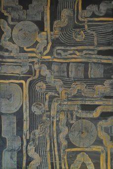 Blautöne, 100 x 150 cm