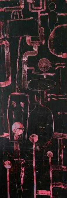 Gruppenbild I, 50 x 150 cm