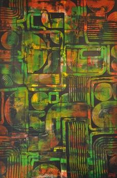 Radialsystem, 100 x 150 cm