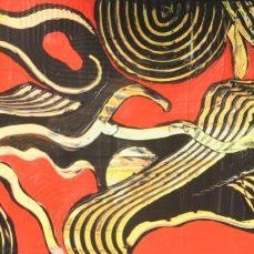 Rote Landschaft, 160 x 50 cm