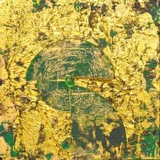 Smaragd I, 40 x 40 cm