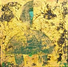 Smaragd II, 40 x 40 cm