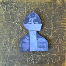 Tie woman, 30 x 30 cm