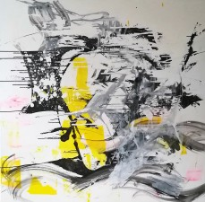Yellow Face, 150 cm x 150 cm