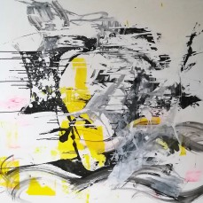 Yellow Face, 150 cm x 150 cm