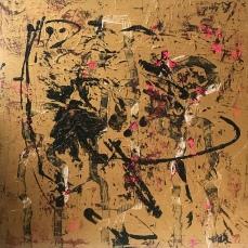 Golden Figures 1, 100 x 100 cm