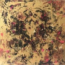 Golden Figures 3, 100 x 100 cm
